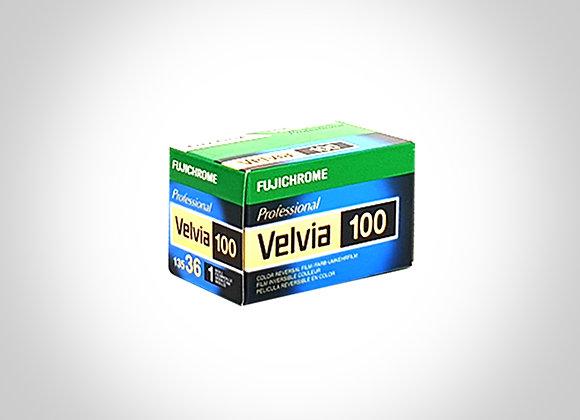 FUJI VELVIA 100 RVP COLOUR SLIDE FILM - 135/36