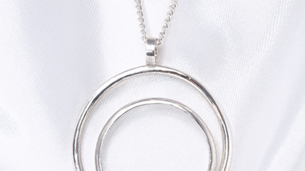 Sterling silver 2 circle pendant