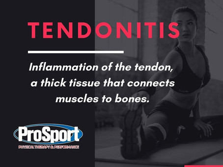 Tendonitis. What is It and Can it be Prevented?