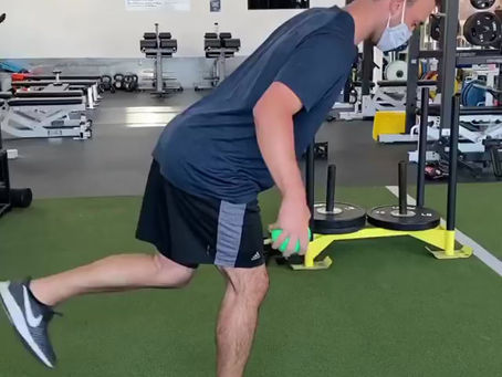 Kyle Molnar, Pitcher for Minor League Angels Organization, Works on Scapular Endurance Exercises