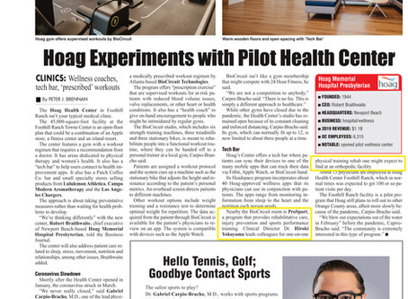 In the News: OCBJ Article on Hoag Health Center in Foothill Ranch