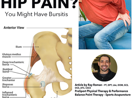 EXPERIENCING HIP PAIN? YOU MIGHT HAVE BURSITIS