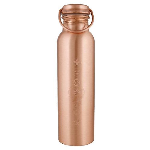 Chakras Copper Water Bottle