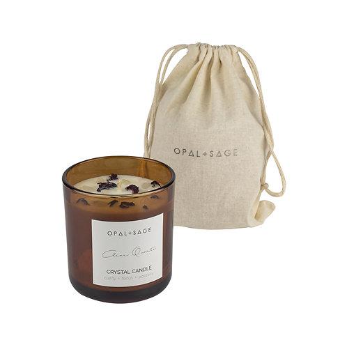 Clear Quartz - Amber Jar Candle