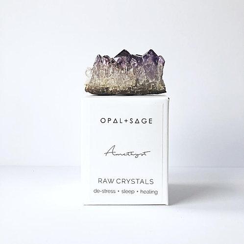 Amethyst Opal + Sage Raw Crystals