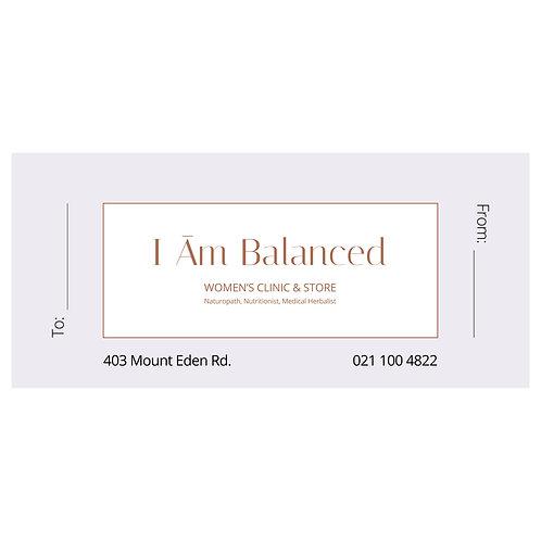 I Am Balanced Gift Voucher