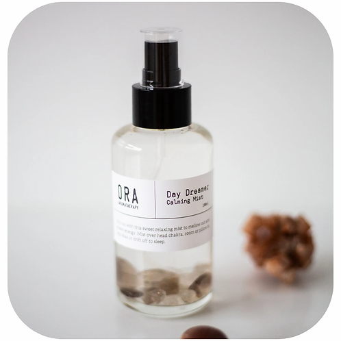 Day Dreamer Calming Mist with Smokey Quartz Crystals.