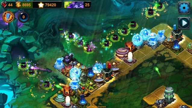 Wave planning in WMS is like playing Tower Defense Games. Note: Image from Element TD Game in Steam