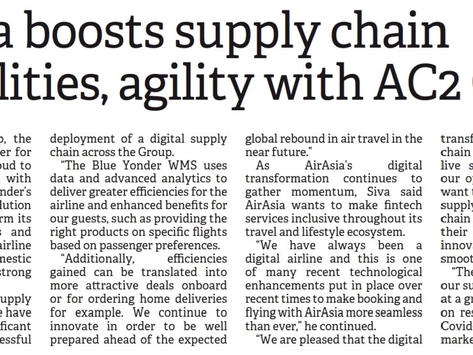 Borneo Post - AirAsia Partners with AC2 Group