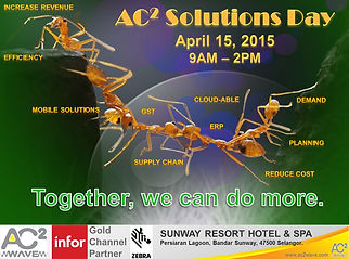 AC2 Wave Solution Day, show casing our Supply Chain, Warehouse Management System (WMS) and Enterprise Resource Planning(ERP) Solutions