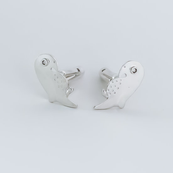 Sterling silver parrot cufflinks for women