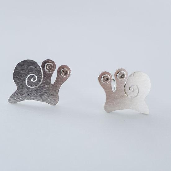 Sterling silver snail cufflinks for women