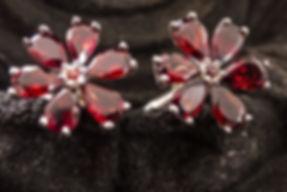 Plum glass cufflinks for women