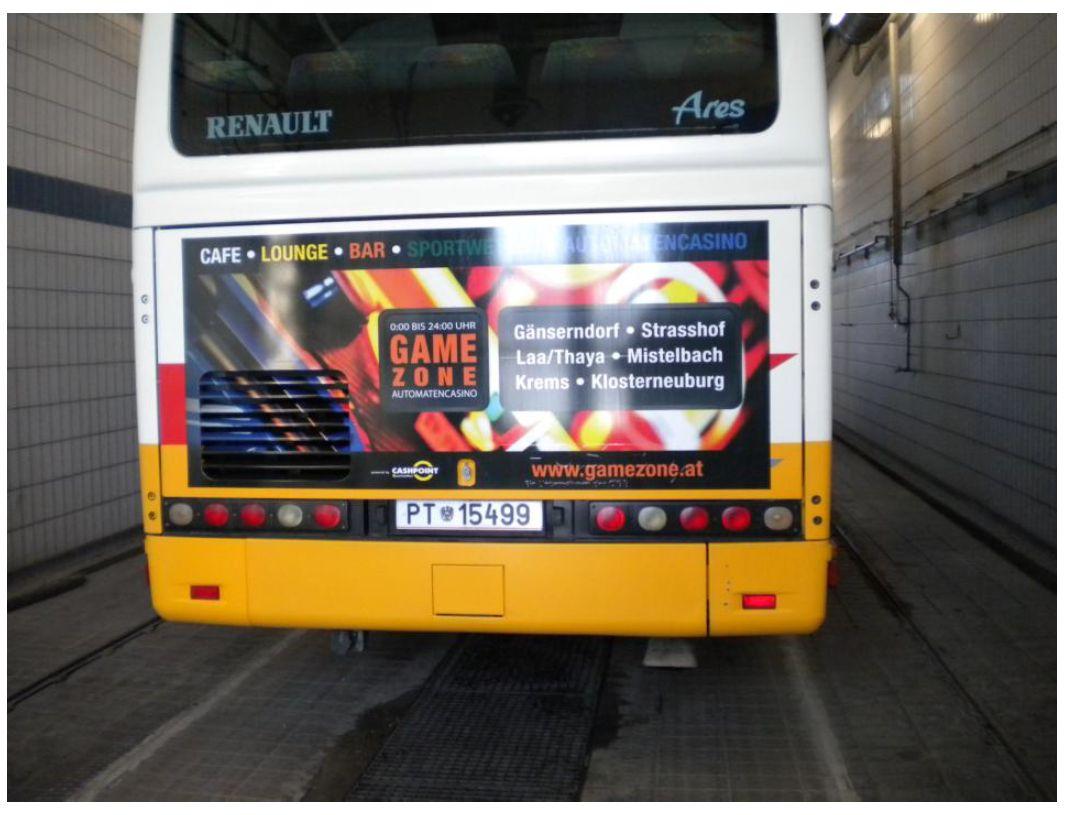 Außenwerbung Bus