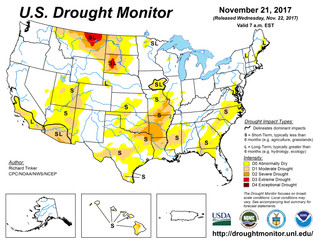 This Week's Drought Summary (11/22)