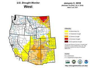 This Week's Drought Summary (1/4)
