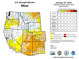 This Week's Drought Summary (1/25)