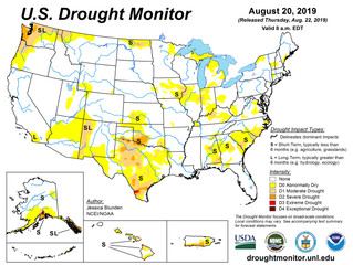 This Week's Drought Summary (8/22)