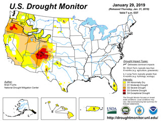 This Week's Drought Summary (1/30)