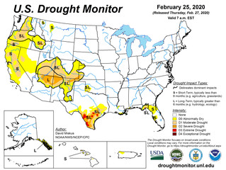 This Week's Drought Summary (2/27)
