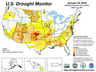 This Week's Drought Summary (1/18)