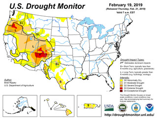 This Week's Drought Summary (2/19)