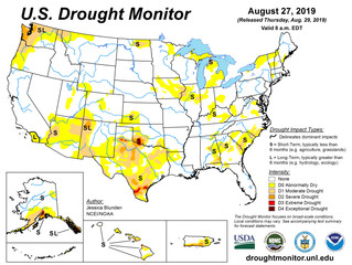 This Week's Drought Summary (8/29)