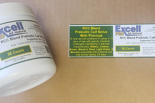 Excell Pro RCC Blend Prebiotic Calf Bolus w/Procrypt