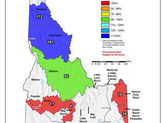 Idaho And Western United States SNOTEL Water Year (Oct 1) to Date Precipitation % of Normal (6/26)