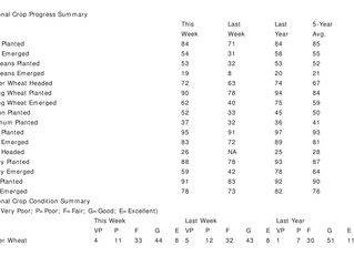 USDA Weekly Crop Progress -  Weekly Crop Progress Report Neutral for Corn, Soybeans