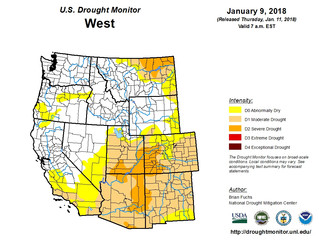 This Week's Drought Summary (1/11)