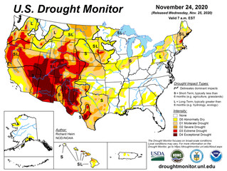 This Week's Drought Summary (11/25)