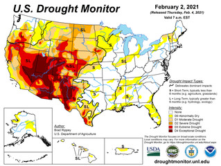 This Week's Drought Summary (2/4)