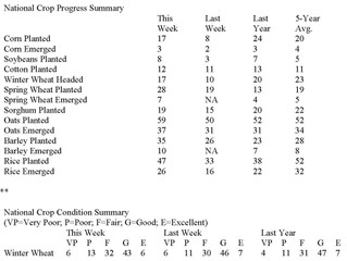 Crop Progress Report-Corn Planting Falls Behind Average Pace; Soybean Planting Pulls Ahead of Normal