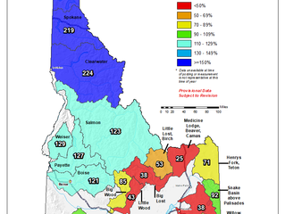 Idaho And Western United States SNOTEL Water Year (Oct 1) to Date Precipitation % of Normal (10/20)