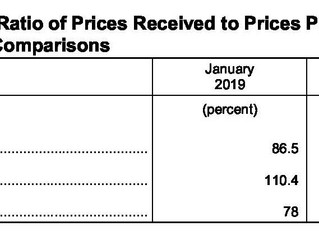 January Ag Prices Received Decreases, Prices Paid Increases