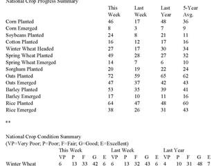 USDA Weekly Crop Progress Report - Corn Planting Progress Jumps 29 Percentage Points