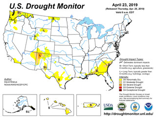 This Week's Drought Summary (4/25)
