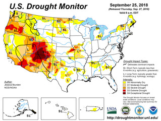 This Week's Drought Summary (9/27)