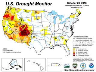 This Week's Drought Summary (10/25)