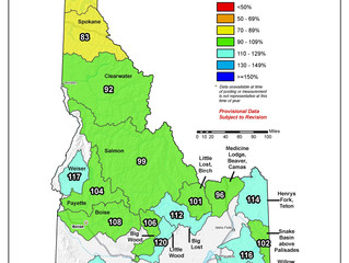 Idaho And Western United States SNOTEL Water Year (Oct 1) to Date Precipitation % of Normal (7/23)
