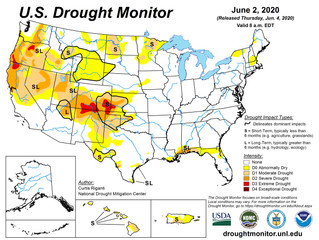U.S. drought level rises sharply in May