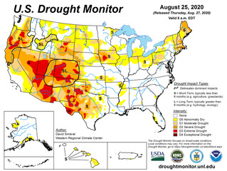 This Week's Drought Summary (8/27)