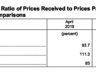 April Ag Prices Received Down 9.0 Percent , Prices Paid Down 1.1%