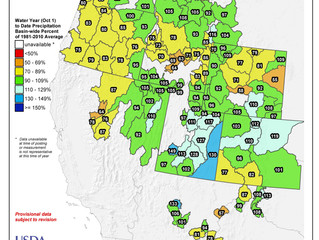 Idaho And Western United States SNOTEL Water Year (Oct 1) to Date Precipitation % of Normal (12/25)