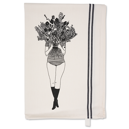 Tea Towel 'Helen B' - flowergirl