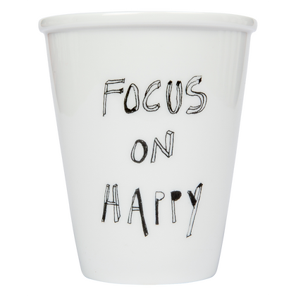 Cup 'Helen B' -  focus on happy