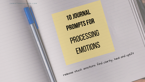 10 Journal Prompts for Processing Emotions
