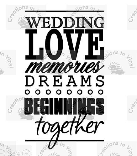WEDDING LOVE MEMORIES