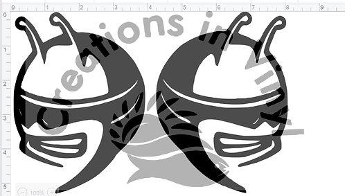 Bee's head logo